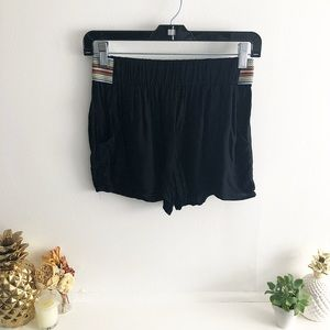 Lily White Shorts with Elastic side detail